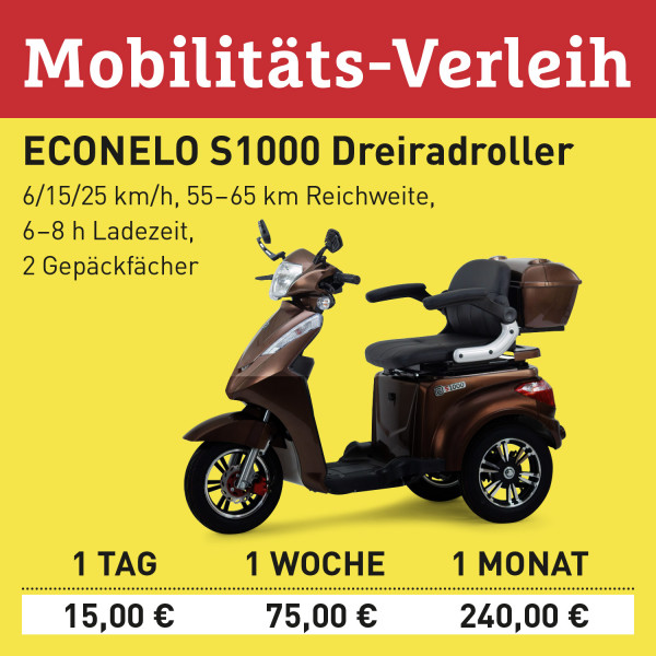 LEBENSFREUDE BY PIEPER Verleih Elektro-Scooter S1000