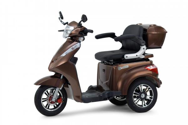 ECONELO Elektro-Dreiradroller S1000 Braun