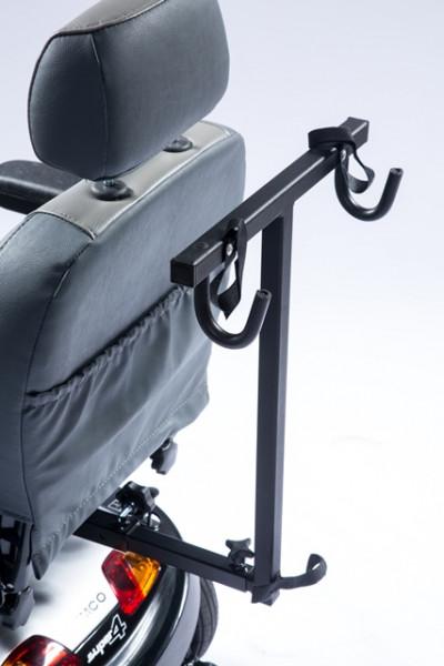UNIVERSAL Rollatorhalter mit 4-Kant-Aufnahme und 24 cm Adapter