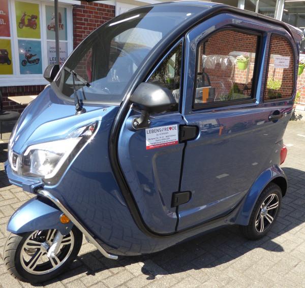 LEBENSFREUDE 3-Rad Elektro-Kabinenroller YMI De Luxe 45 km/h Blau
