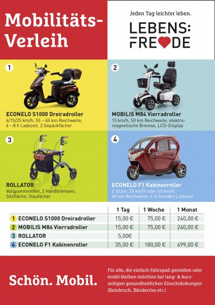 LEBENSFREUDE BY PIEPER E-Scooter/Kabinenroller und Rollatoren Verleih