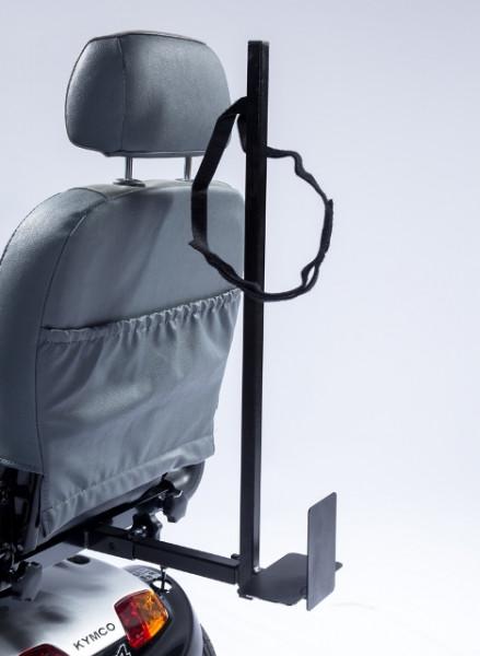 UNIVERSAL Leichtgewicht-Rollatorhalter mit 4-Kant-Aufnahme und 24 cm Adapter