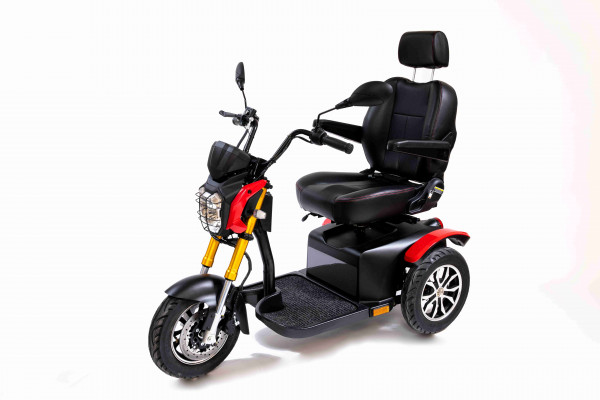 SHOPRIDER 3-Rad-Scooter MADEIRA Rot-Schwarz 15 km/h